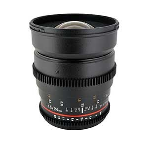 لنز ۲۴ سامیانگ سینمایی | Samyang 24mm T1.5 Cine Lens for Canon EF-Mount